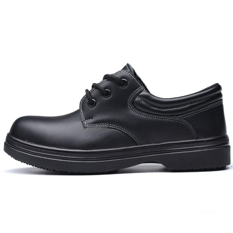 Grande Travail Sécurité Acier Boot pierce Loisirs De Chef Cuisine Non Anti Sneaker Taille Cuire Hommes En Embout Respirant Security Chaussures slip qtS8Wzw