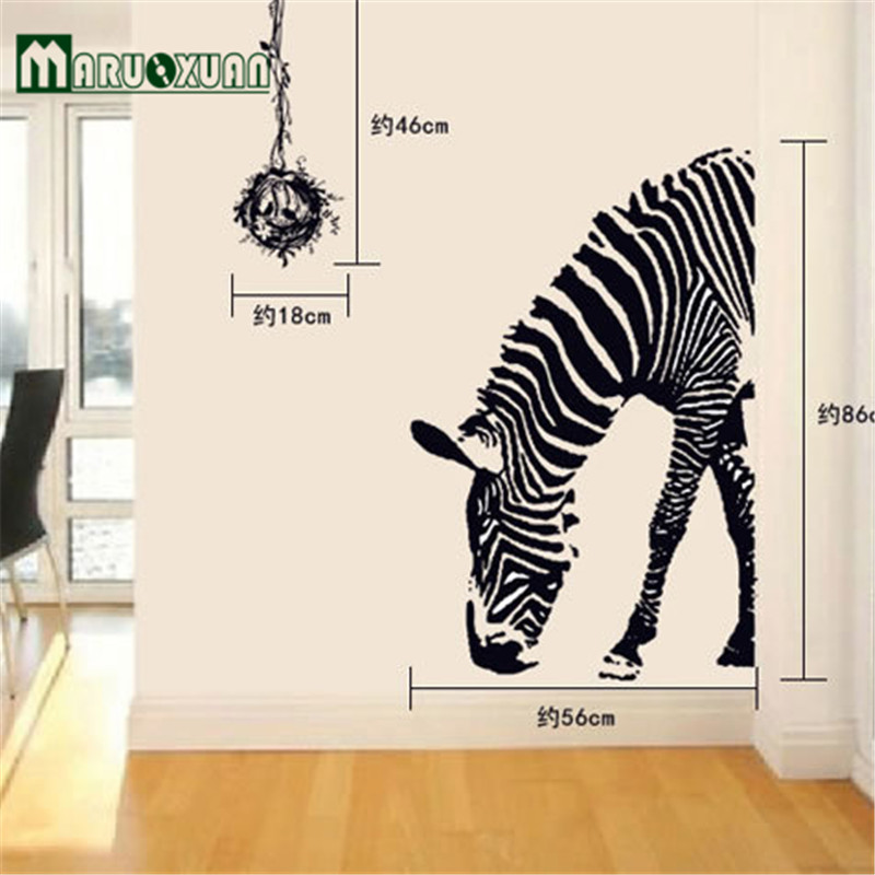 Abstract art black and white sketch stickers wall stickers stylish home decor stickers  Zebra 09