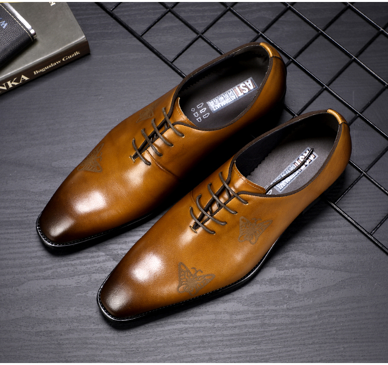 Men`s Leather Casual Shoes Business Mens Genuine Leather Moccasins Men Oxfords Shoe Office Casual Leather Shoes Men Big Size 45 (1)