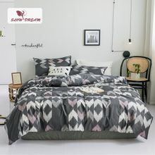 SlowDream Geometry 100% Cotton Bedding Set Comforter Cover Bed Linens Bedspread Double Duvet Bedclothes Home Textiles