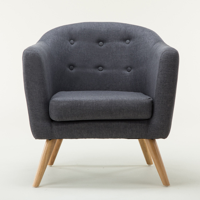 living room furniture sofa chair idea for decoration mid century modern style love seat with wood legs single couch tufted button fabric accent