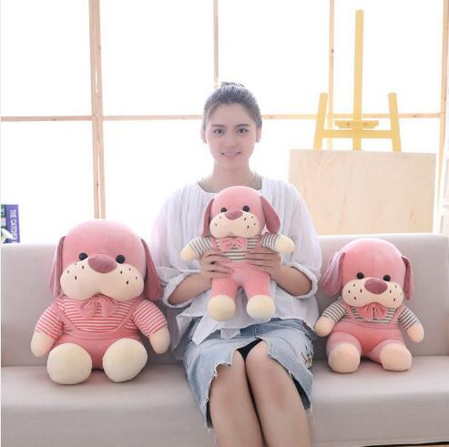 WYZHY Down cotton dog plush toy doll home decoration bed pillow to send friends and children gifts 40CM in Stuffed Plush Animals from Toys Hobbies