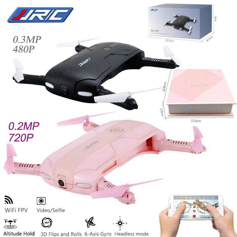 Selfie Drone With Camera Foldable Pocket FPV Quadcopter Rc Drones Phone Control Wifi Helicopter Mini Dron 2 Colors