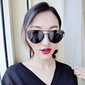 2016 Mix Wind new Cat Eye Aviator Sunglasses Women Vintage Fashion Metal Frame Mirror SunGlasses Unique Flat Ladies Sunglasses