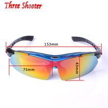 2017 THREE-SHOOTER Cycling Glasses Polarized Outdoor Sport Glasses Sunglasses Men Bicycle Riding Travel Bike Glasses