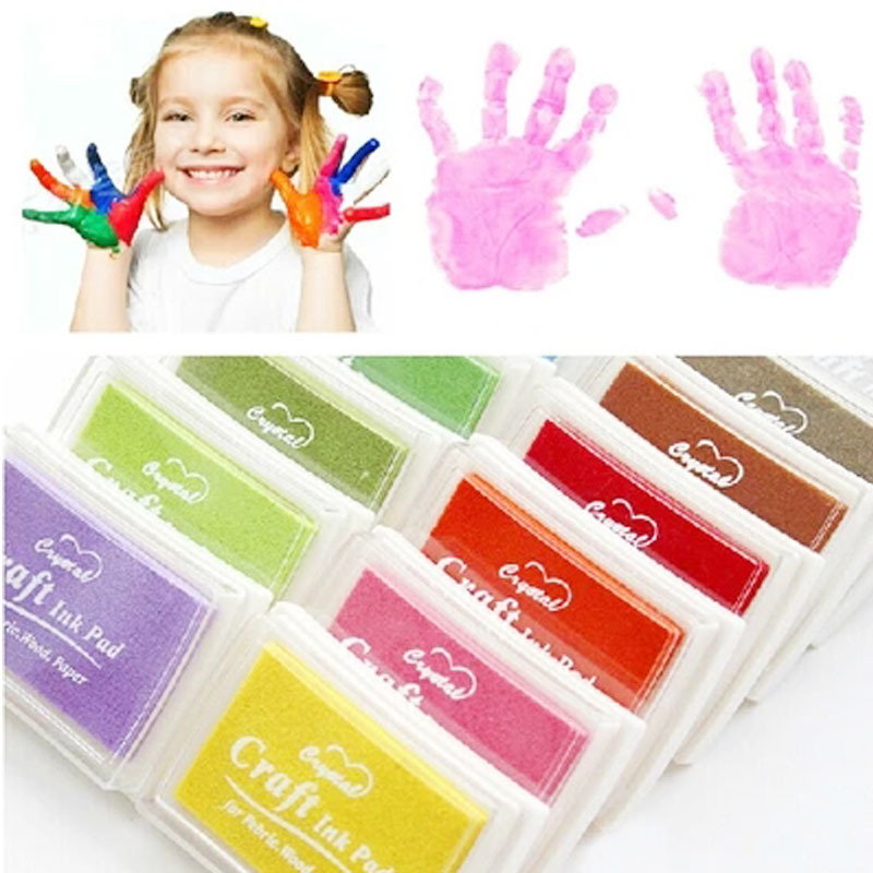 5pcs/lot Craft Ink Pad DIY for Stamps Fabric Wood Paper Scrapbooking Kids Child Wedding Fingerprint  Inkpad 15 Colors for Choose