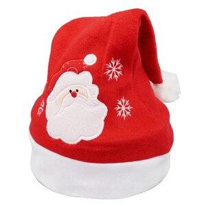 Image 5 - Weihnachten Ornamente Dekoration Weihnachten Hüte Santa Hüte Kinder Frauen Männer Jungen Mädchen Kappe Für Weihnachten Party Requisiten S5010
