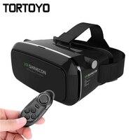 VR Shinecon VR Virtual Reality 3D Glazen Hoofdband Kartonnen Headmount Mobiele 3d-film Games voor iPhone/Samsung 4.7-6 Smartphone