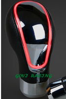 GV GN0232 Black Gear Knob With Aluminum And Artificial Leather Support Wholesale And Retail