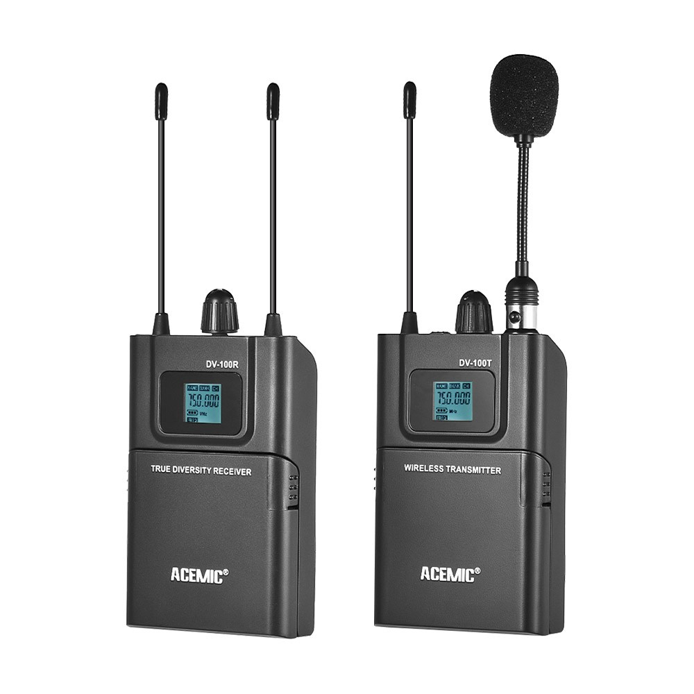 original acemic dv 100 true diversity interview wireless microphone system special designed for. Black Bedroom Furniture Sets. Home Design Ideas