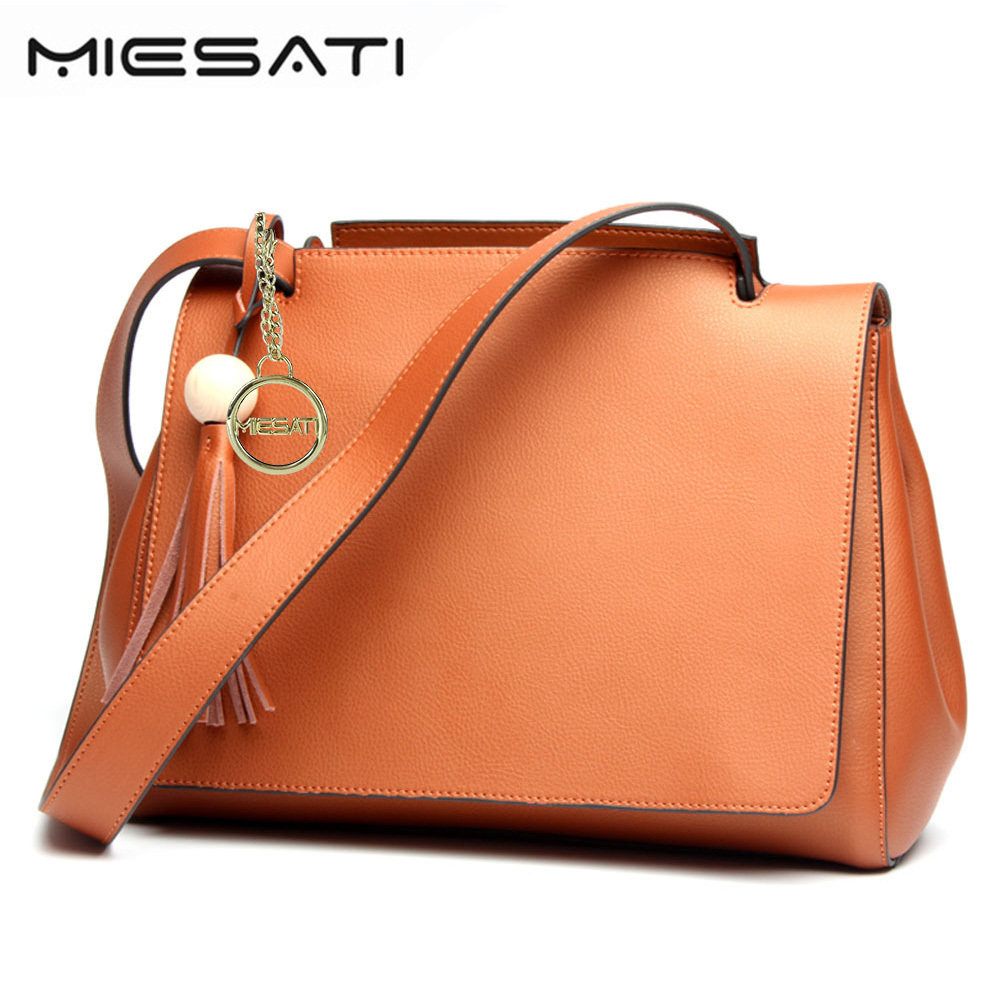 MIESATI 2017 luxury handbags women bags designer Fashion Shoulder PU leather tassel shopping tote bag ladies hand bags