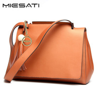 MIESATI 2017 luxury handbags women bags designer Fashion Shoulder PU leather tassel shopping tote bag ladies hand bags
