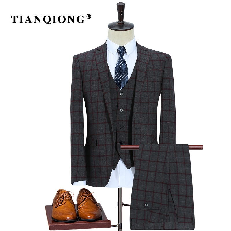 Здесь продается  TIAN QIONG 2017 New High Quality Wool Plaid Wedding Suits Men,blazer Men,wedding Dress,gray Men