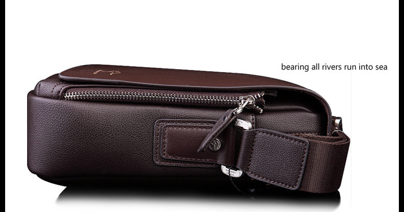 New Arrived luxury Brand men's messenger bag Vintage leather shoulder bag Handsome crossbody bag handbags Free Shipping 13