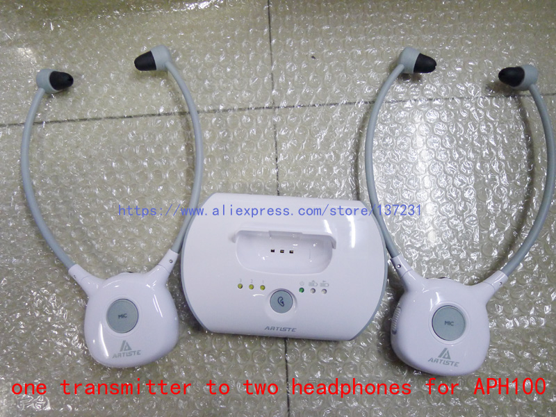 Artiste 1 transmitter 2 headphones For APH100 Elderly TV hearing aid earphone Wireless 2 4G HIFI