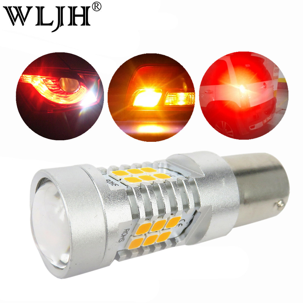WLJH 2x CANBUS 21W BAU15S 7507 PY21W 1156PY LED Bulbs Auto Lamp Car Turn Signal Lights Reverse Brake Bulb Daytime Running Lights