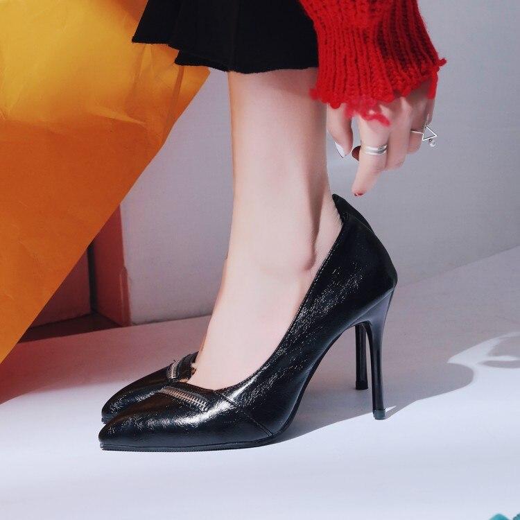 black Pompe Pour Femmes Mariée Chaussures Sexy De Bureau 43 Haute Taille Noir Coins Talons Red 2018 Mode Pompes Mariage Cadeau 36 qRqZF