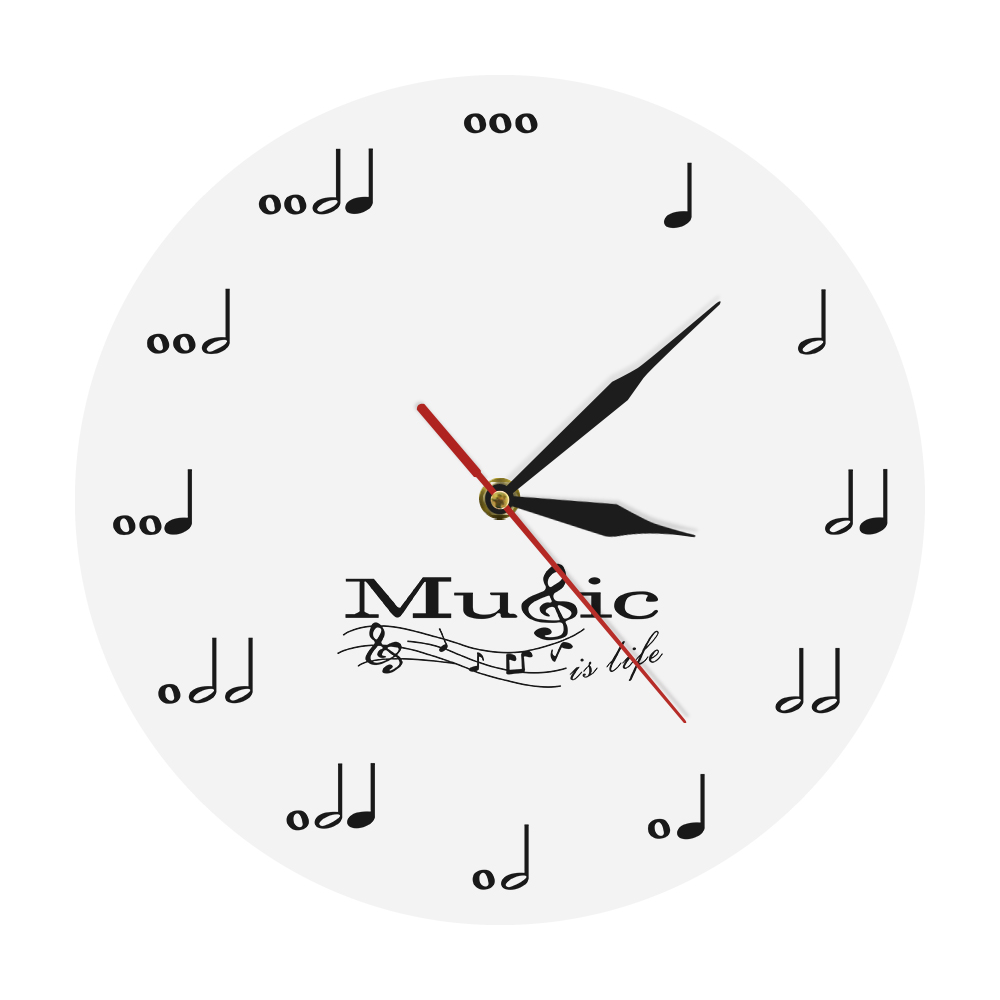 Muscial Notes Wall Clock Modern Design Wall Watches Acrylic Clocks Music Theme Clock Wall Decor For Living Room Best Gift