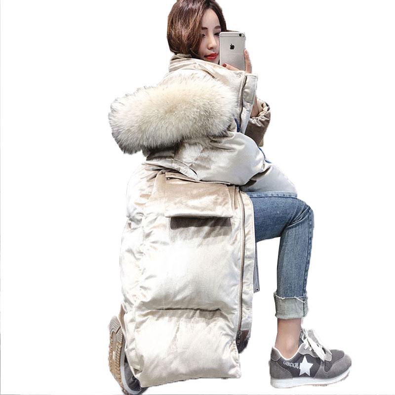 -30 Degree Jacket  Women Winter Coat Cotton Padded Jacket Parka Hooded Long Down Jacket Female Thick Warm Outwear Overcoat 736