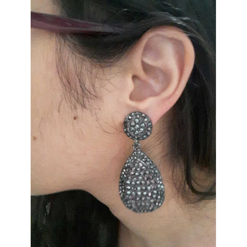 f12e0182046cf 2019 New fashion women statement new design big black crystal stud Earrings  for women fashion earring Factory Price wholesale