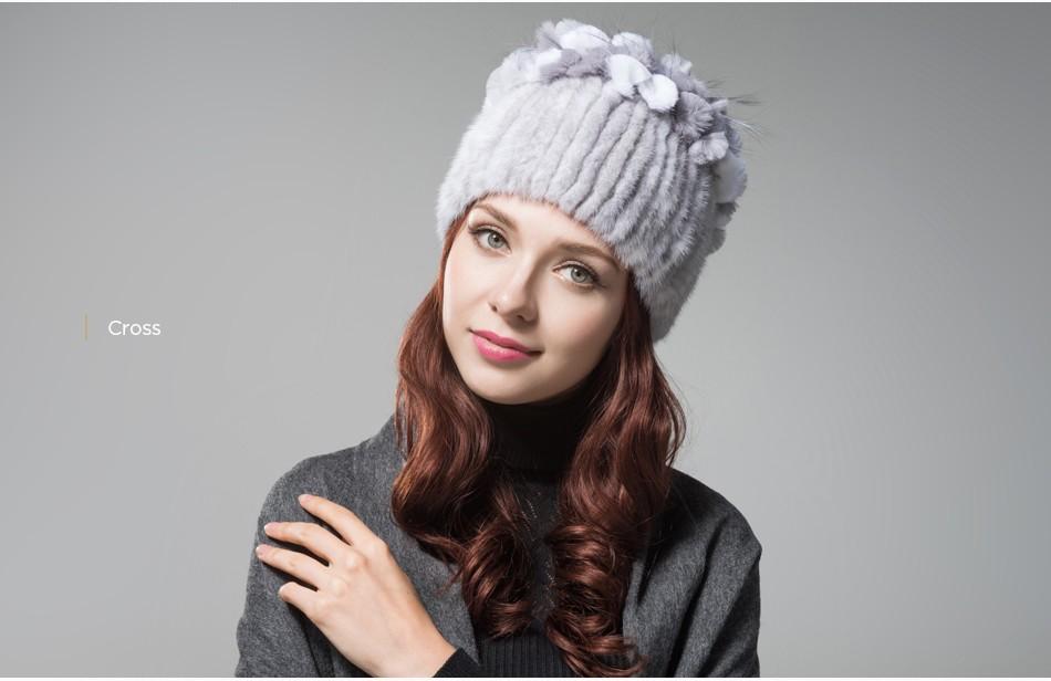 mink fur hats female winter PCM016 (11)