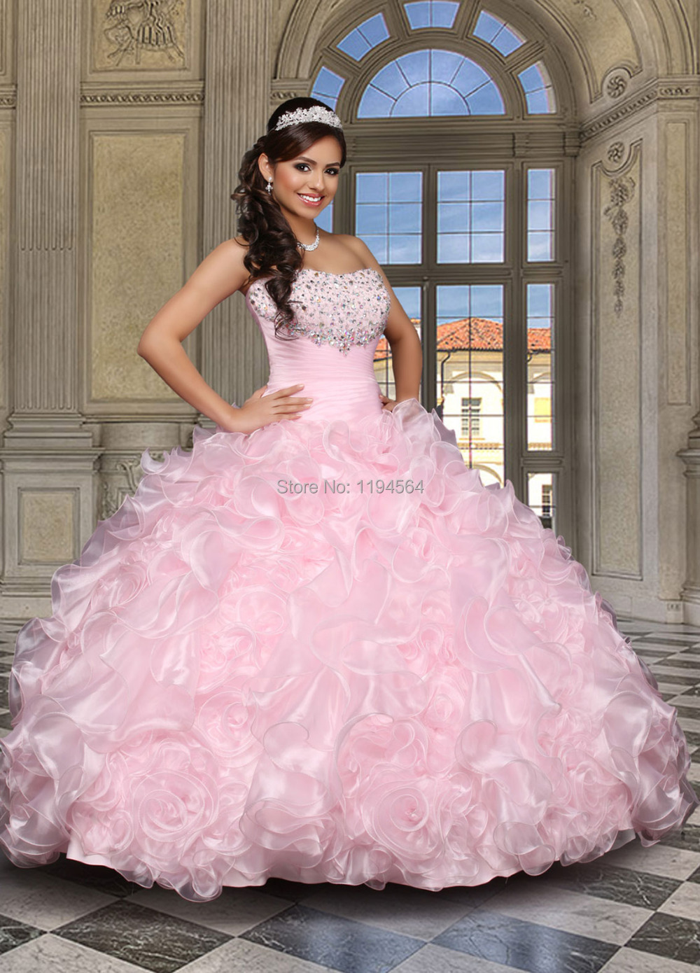 Cheap pink quinceanera dresses