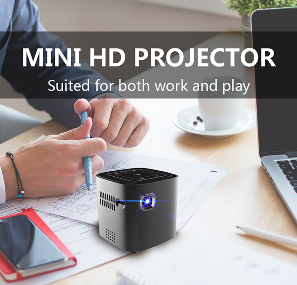 CRENOVA Newest DLP Wifi Bluetooth Mini Projector With Android 7.1.2OS  For Home Theater 3