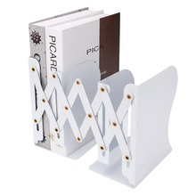 Porte livre Extensible en métal de haute qualité porte documents porte documents pliant organisateur de livre pour la bibliothèque de bureau décole à la maison