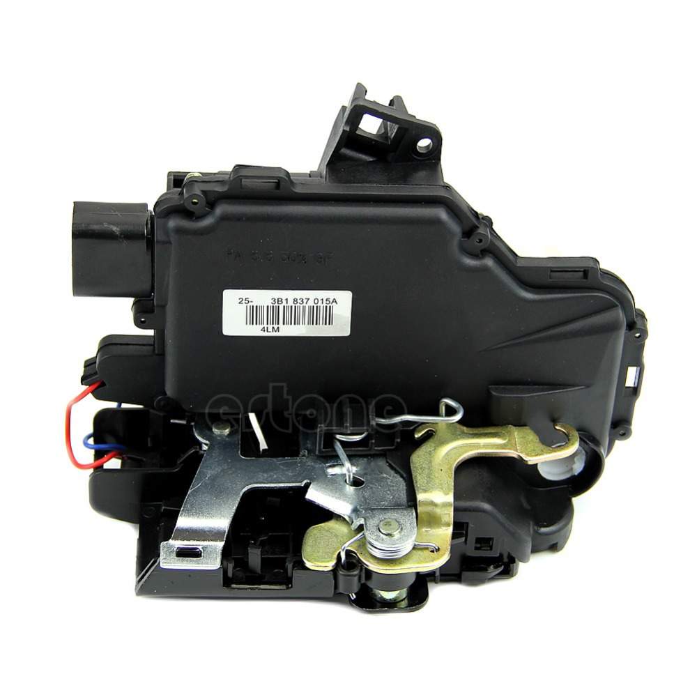 OOTDTY Black Door Lock Latch Actuator Driver Front Side Left LH For VW Jetta Golf Beetle Easy to Install