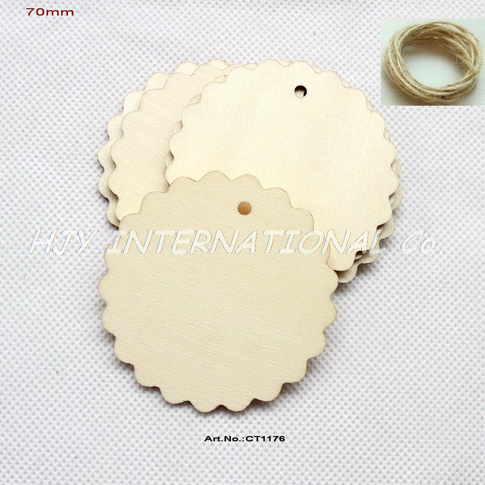 Wooden circles for crafts -  30pcs Lot 70mm Natural Unfinished Large Circle Wood Disk Cutouts Round Wooden Disc Wedding Crafts 2 8 Ct1176