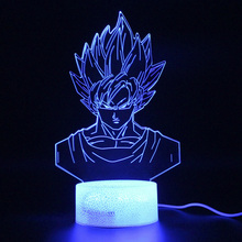 Dragon Ball Lamp Illusion Remote Control Touch 3d Table Lamp Goku Led Light Party Decoration Night Light Kids Projection Lamp цена и фото