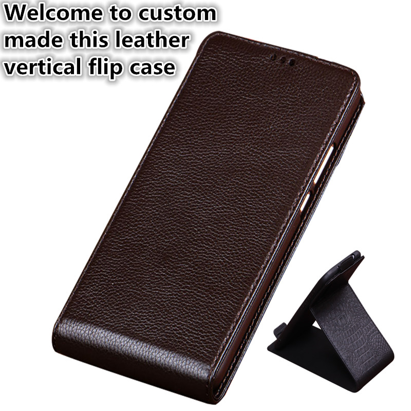 ZD02 Genuine Leather Flip Cover Case For Samsung Galaxy J6 2018 Vertical flip Phone Up and Down Leather Cover Phone Case