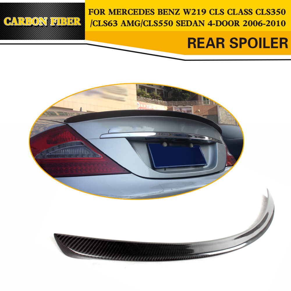 Carbon Fiber Rear Trunk Lip Spoiler Wing For Mercedes Benz