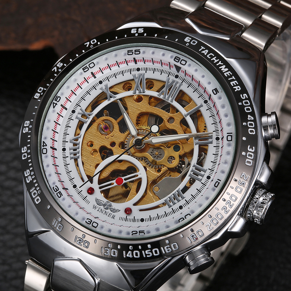 Watch Men Skeleton Automatic Mechanical Watch Gold Skeleton Vintage Man Watch Mens Watch Top Brand Luxury Saat Relogio Masculino