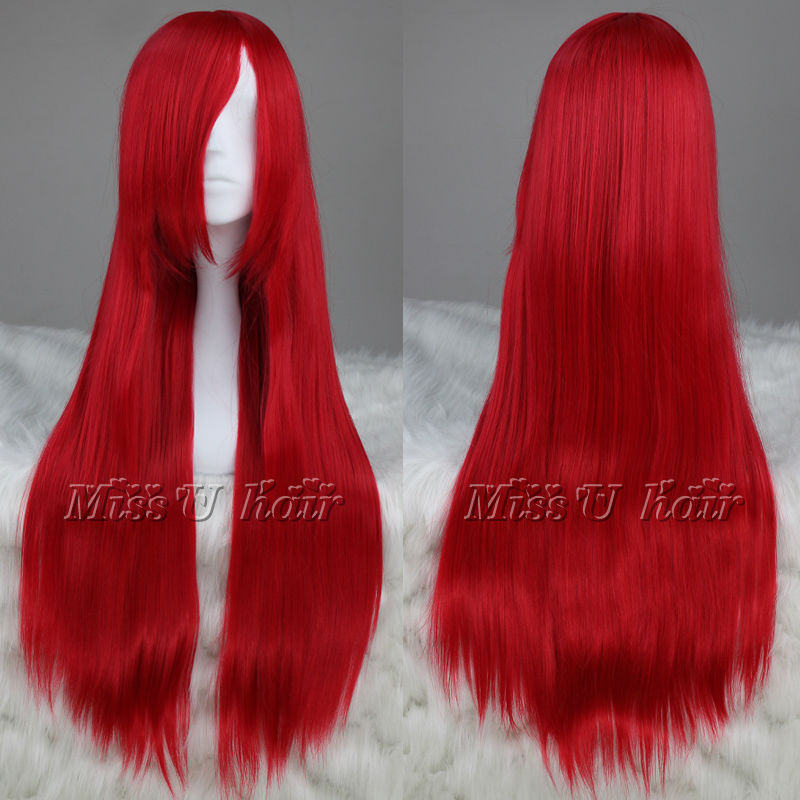 Free shipping 80cm Long straight Red Cosplay Costume Wigs Anime wigs + free wig cap on Aliexpress.com | Alibaba Group & Free shipping 80cm Long straight Red Cosplay Costume Wigs Anime wigs ...