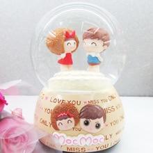Moc doll crystal ball rotating music box snow