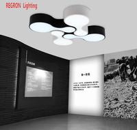 Regron промышленных потолочные 1 шт. Металл Led Панель потолочный светильник черный, белый цвет Lamparas для офиса Гостиная кафе