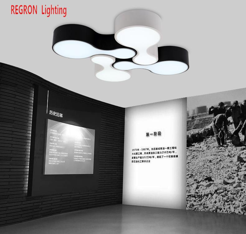 Hot sale regron industrial ceiling lights 1 pc metal led commercial regron industrial ceiling lights 1 pc metal led commercial panel ceiling lamp black white lamparas for office living room cafe aloadofball Gallery