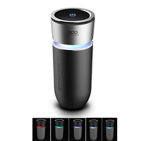 Car Air Purifier LED 5 Color 12V Negative Ions Air Cleaner Ionizer Air Freshener Auto Mist Maker Pm2.5 Eliminator Car Charger