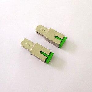 Image 1 - Free Shipping 2pcs/lot Fiber Optic SC APC Female to SC UPC Male Adapter
