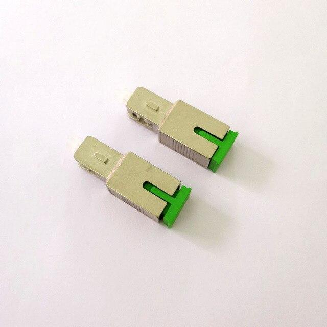 Free Shipping 2pcs/lot Fiber Optic SC APC Female to SC UPC Male Adapter