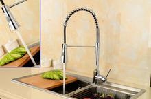 Натяжные кухонный кран смесителя горячей и холодной, медные раковины бассейна кран pull out, поворачивается на одно отверстие блюдо бассейна кран водопроводной воды