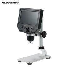 """Meterk 600X4,"""" дисплей 3.6MP электронный цифровой видео микроскоп портативный светодиодный Лупа Встроенная перезаряжаемая литиевая батарея"""
