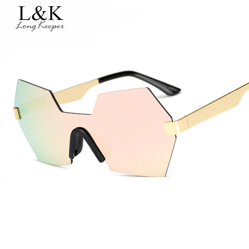 Women's Glasses Fast Deliver Long Keeper Hot Selling Irregular Rimless Women Men Sunglasses Gradient Pink Glass For Male Female Eyewear Am1801 Free Shipping Buy One Give One Apparel Accessories