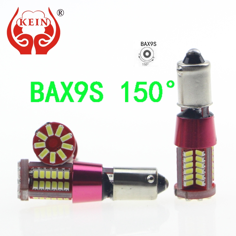 KEIN 2PCS BAX9S 57smd auto car LED Canbus NO Error Xenon White Clearance Bulb License Plate