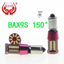 KEIN 2PCS BAX9S 57smd auto car LED Canbus NO Error Xenon White Clearance Bulb License Plate Tail Side Wedge Lights red yellow