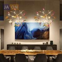 g4 led Postmodern Iron Colorized Agate Firefly Designer Chandelier.Chandelier Lighting LED Light LED Lamp For Dinning Room Foyer