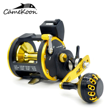 Saltwater Stage Wind Reel With Line Counter Left/Proper Hand Trolling Boat Fishing Reel