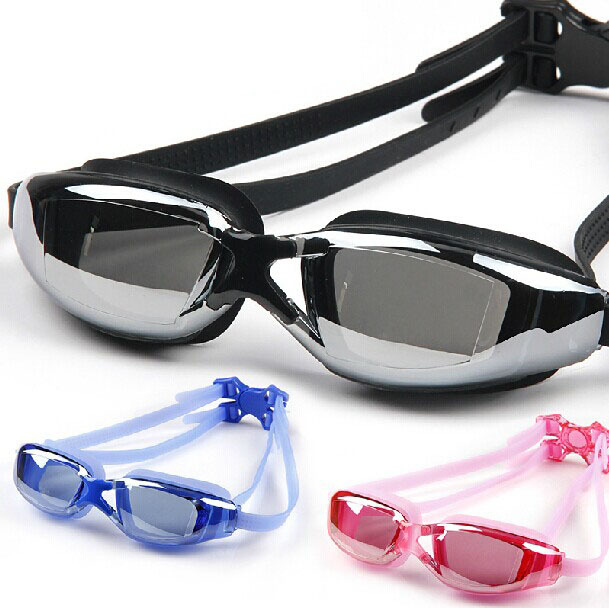 150-800 grau míope-espelho antifog óculos de natação óculos de proteção UV ajustável à prova d' água profissional galvanizado