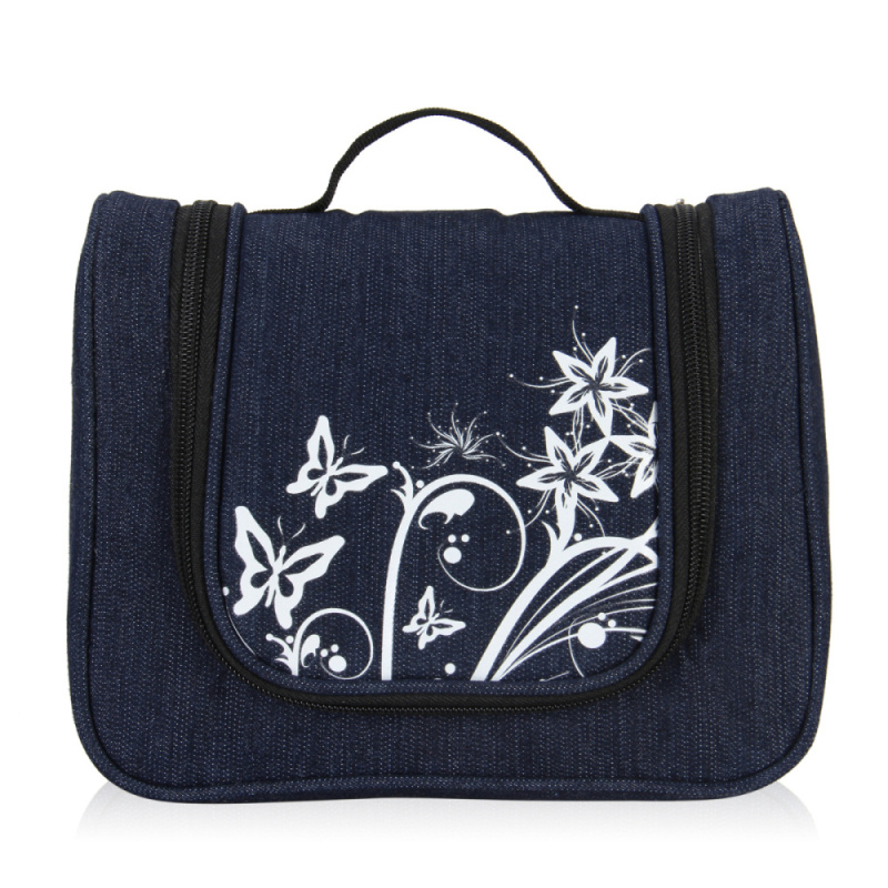 VEEVAN 2016 Fashion Print Design Jeans Cosmetic Bag Women Men Casual Travel Multifunctional Organizer Handbag Storage Makeup Bag
